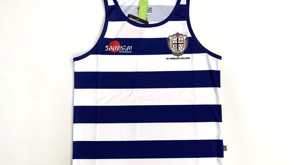St Anselm's Samurai Striped Athletics Vest