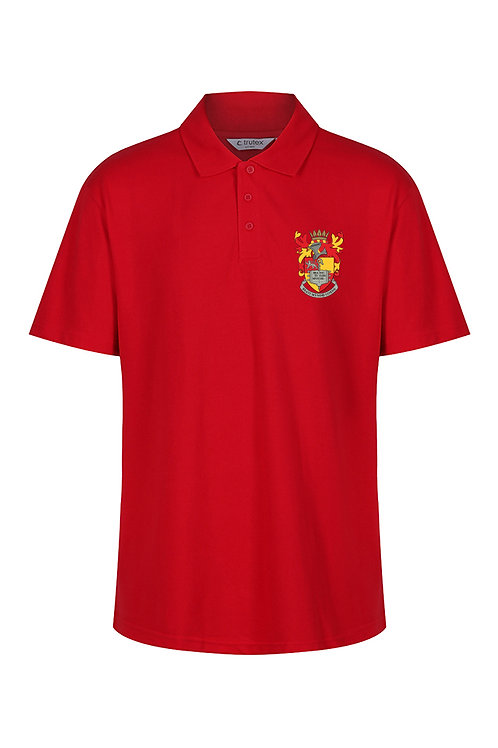 Red Polo Shirt with School logo
