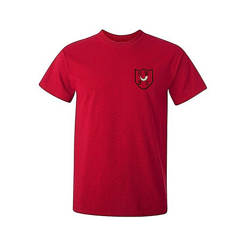Red PE Tshirt with South Wirral Logo (Boys)
