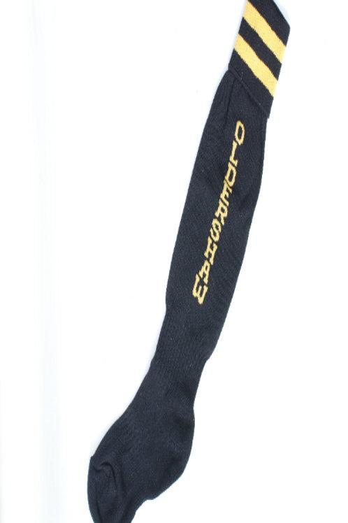 Black Football Socks with Oldershaw text