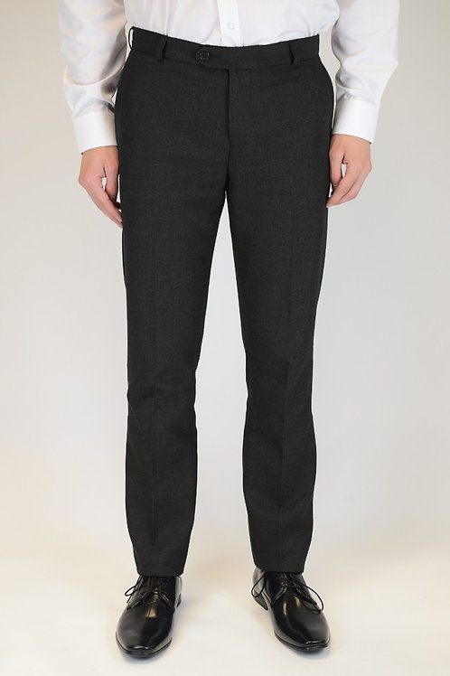 Trutex Black Slim Fit Trousers