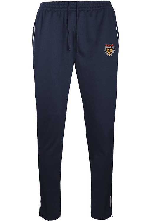 Navy Track Pants with West Kirby Logo