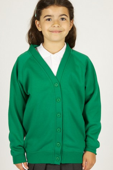 Emerald Green Sweatcardy with Irby Pre Logo