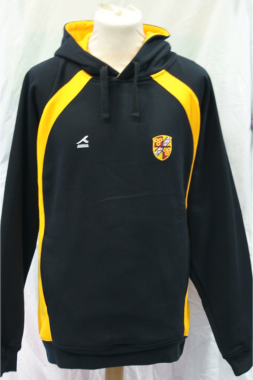 Black and Gold PE Hoody with Oldershaw Logo