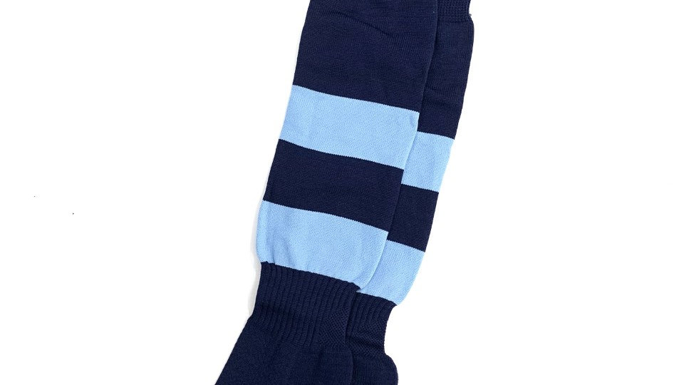 St Anselm's Navy/Sky Striped Socks