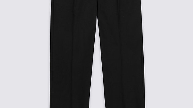 Semi-Elastic Slim Charcoal Trousers