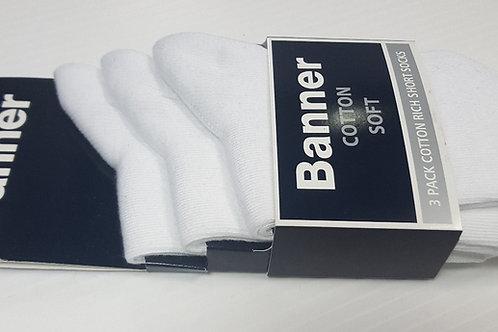 Black or white Short Socks (3 pack)