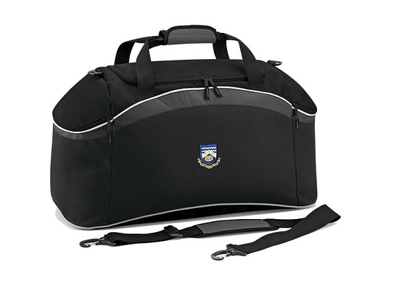 Black Holdall with Logo Embroidered