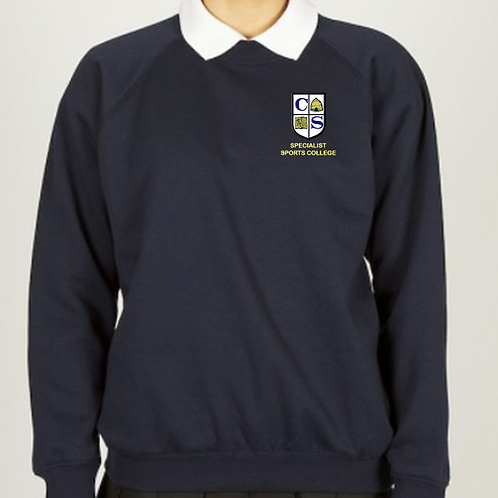 Navy Sweatshirt with Clare Mount Logo