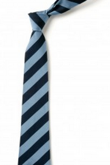 Sky and Navy Striped Tie (No. 14)