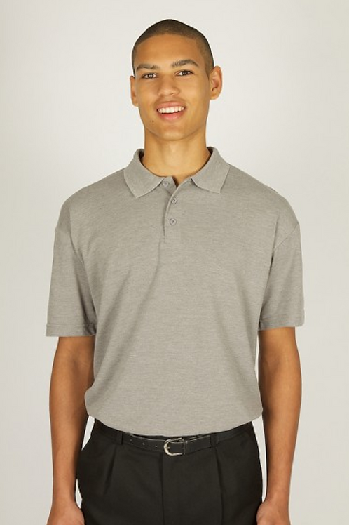 Grey Polo Shirt with Hillside Logo