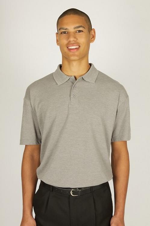 Grey Polo Shirt with Leasowe Logo