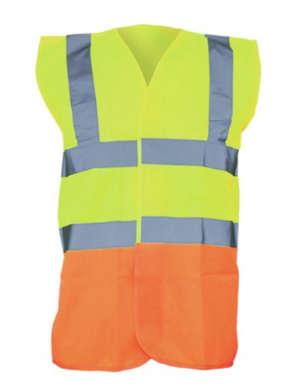 Yellow / Orange  Hi-Vis Vest  (Yoko YK001)