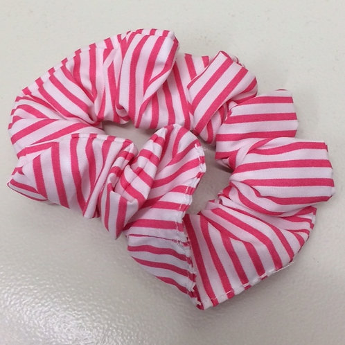 BHSA Red and White Striped Scrunchie