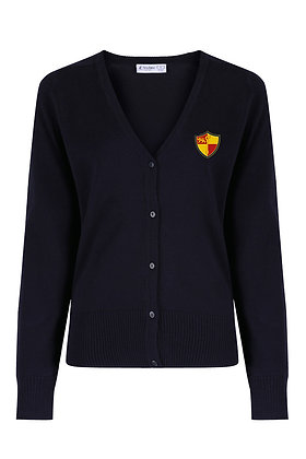 Navy Cardigan with Prenton Logo Embroidered