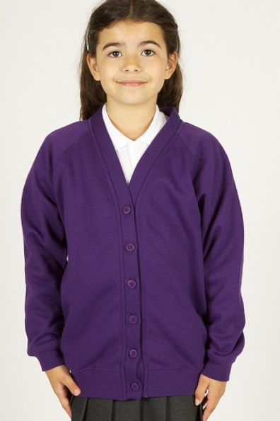 Purple Sweatcardy with Hillside Logo