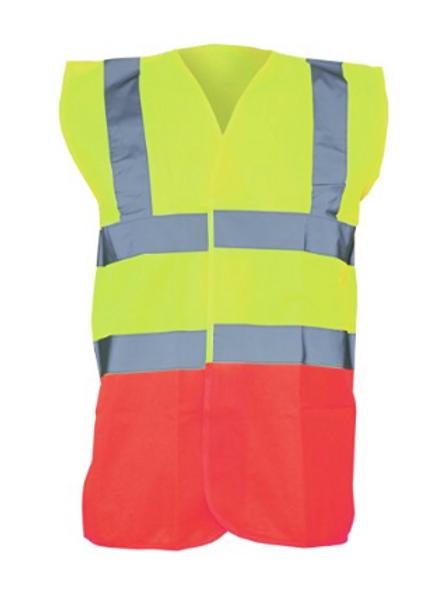 Yellow / Red  Hi-Vis Vest  (Yoko YK001)