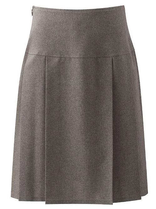 Grey Multipleat Senior Skirt