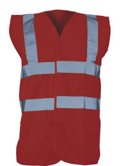 Maroon Hi-Vis Vest  (Yoko YK001)