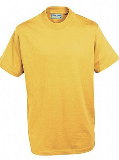 Yellow PE T-shirt with Brookhurst Logo