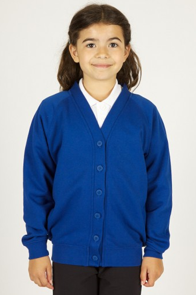 Royal Sweatcardy with Brookhurst Stepping Logo