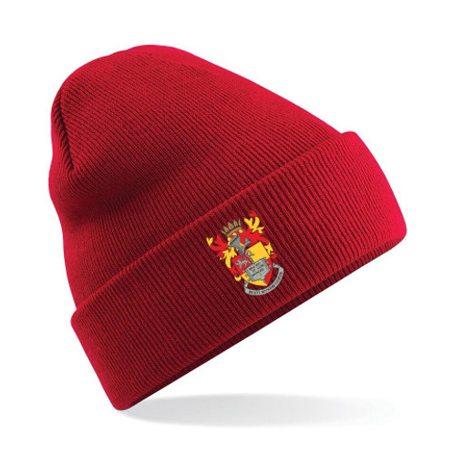 Black or Red Woolly Hat with School Badge