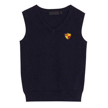 Navy Tank Top with Prenton Logo Embroidered