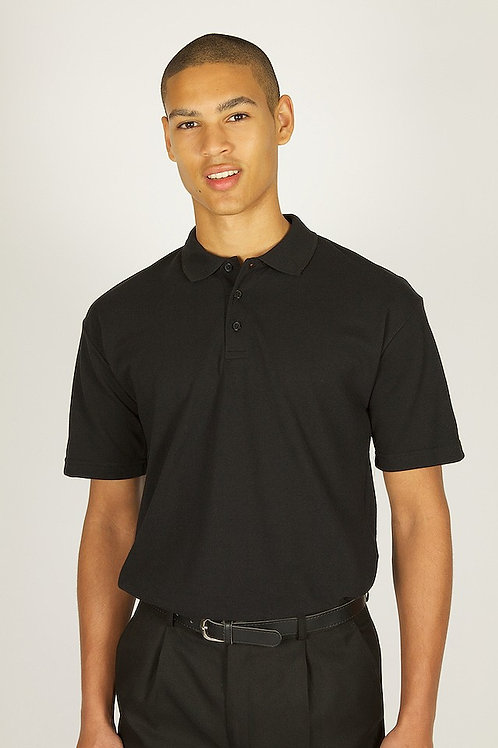 Plain Black Trutex Polo
