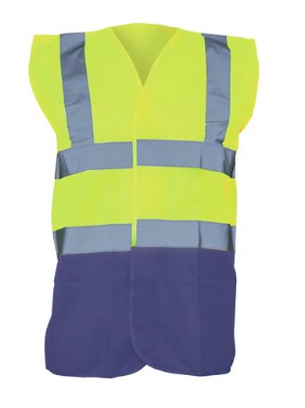 Yellow / Navy  Hi-Vis Vest  (Yoko YK001)