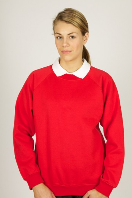 Red Sweatshirt with Great Meols Pre Logo
