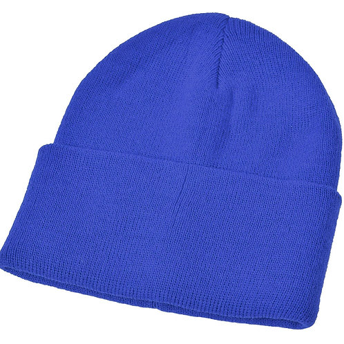 Royal Blue Woolly Hat (Plain or Embroided)