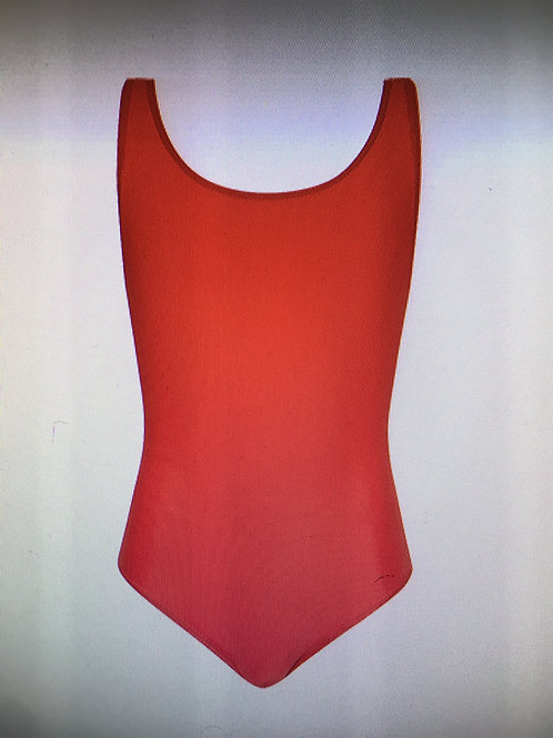 Red full body swimsuit