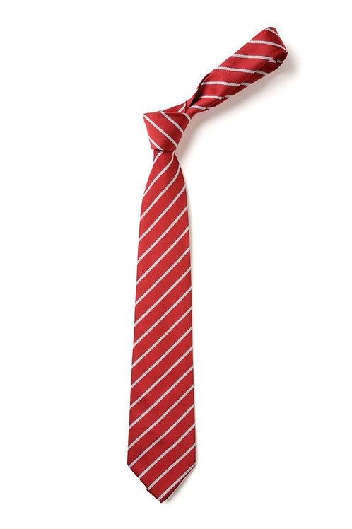 Red/Silver Striped Tie (No. 18)