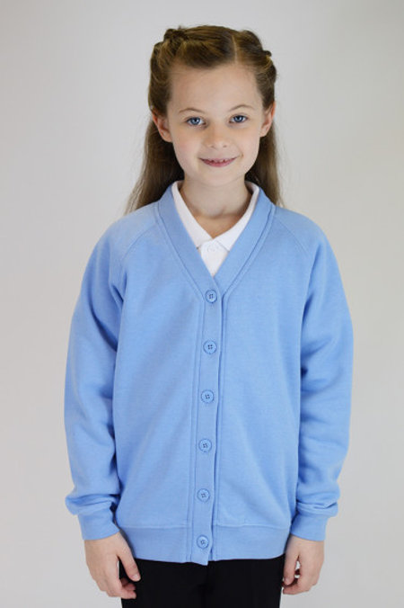 Sky Sweatcardy with St Peters Playgroup Logo