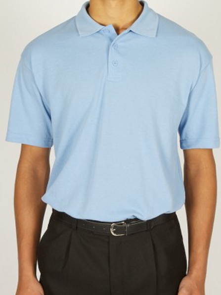 Sky Polo Shirt with Co-op Woodslee logo