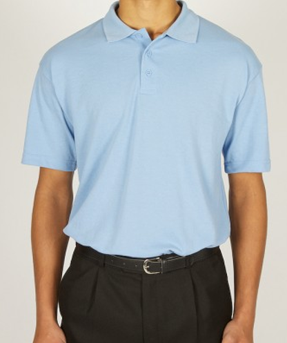 531c8650e Sky Polo Shirt with St Michael and All Angels Logo embroided on.