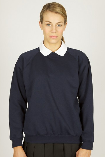 Navy Sweatshirt with Woodlands Logo
