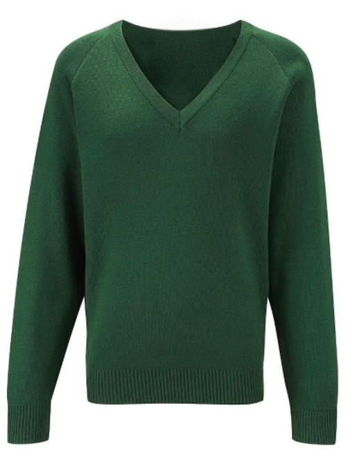 Green Courtelle Jumper with Bedford Drive Logo