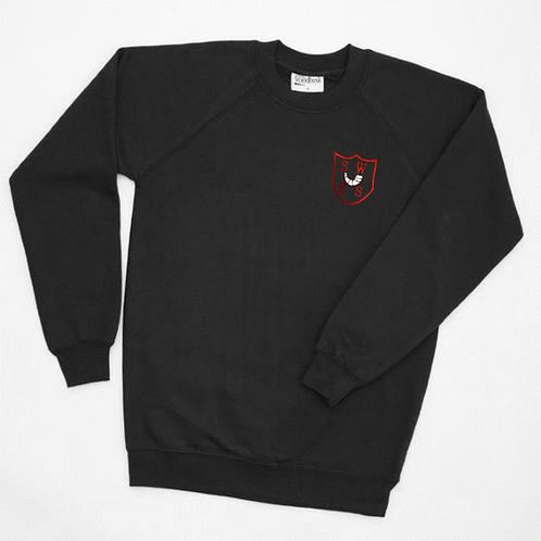 Black PE Sweatshirt with South Wirral Logo