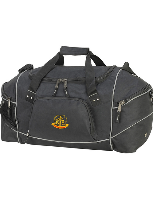 Black holdall with St Mary's logo