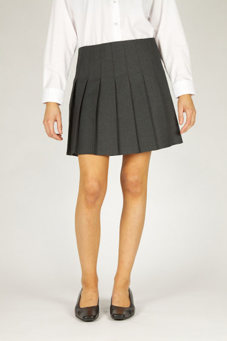 Grey Knifepleat Senior Skirt