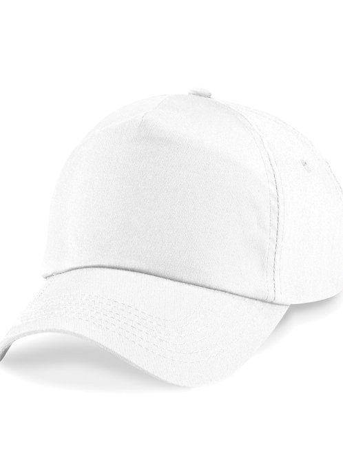 White Beechfield Baseball Cap