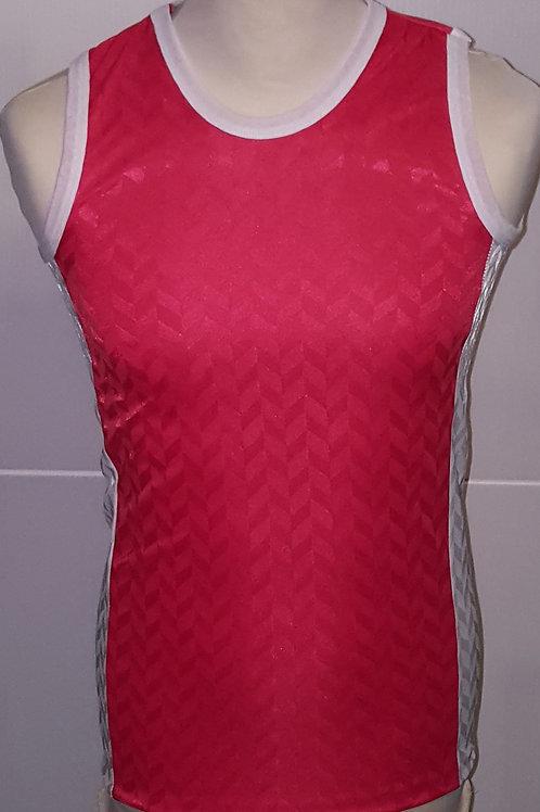 """Red/White """"Zig-Zag"""" Athletics Vests"""