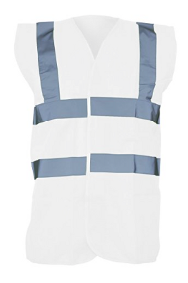 White Hi-Vis Vest  (Yoko YK001)