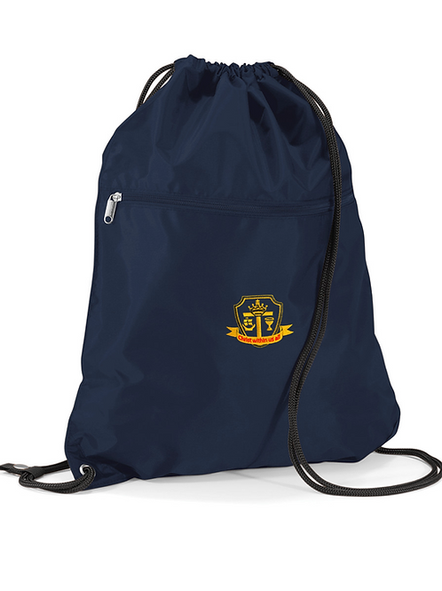 Navy PE Bag with St Mary's logo