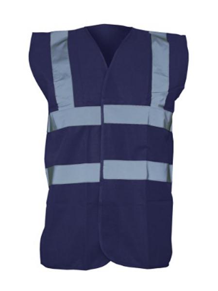 Navy Blue Hi-Vis Vest  (Yoko YK001)
