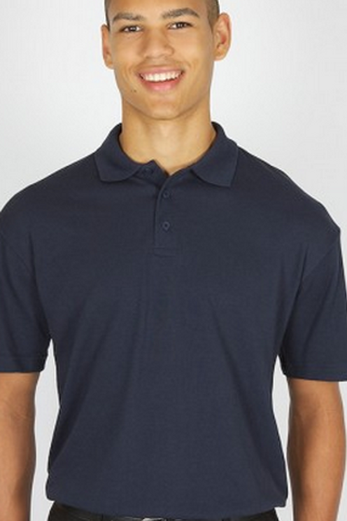 Navy Polo Shirt with Little Cherubs Logo