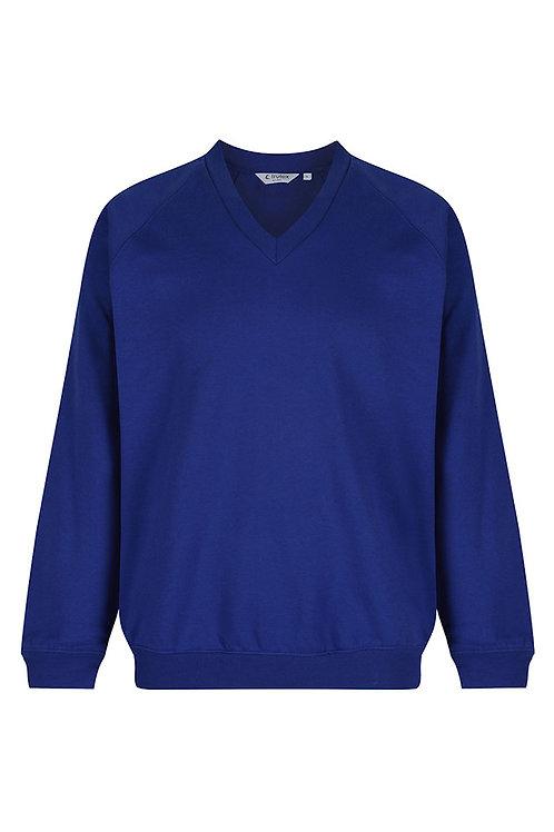 Royal V Neck Sweatshirt with Grove Street Logo