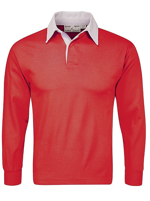 South Wirral High School Red Rugby Top for Boys
