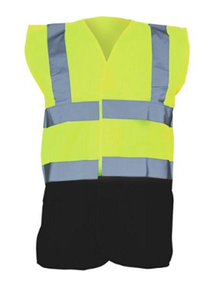 Yellow / Black  Hi-Vis Vest  (Yoko YK001)